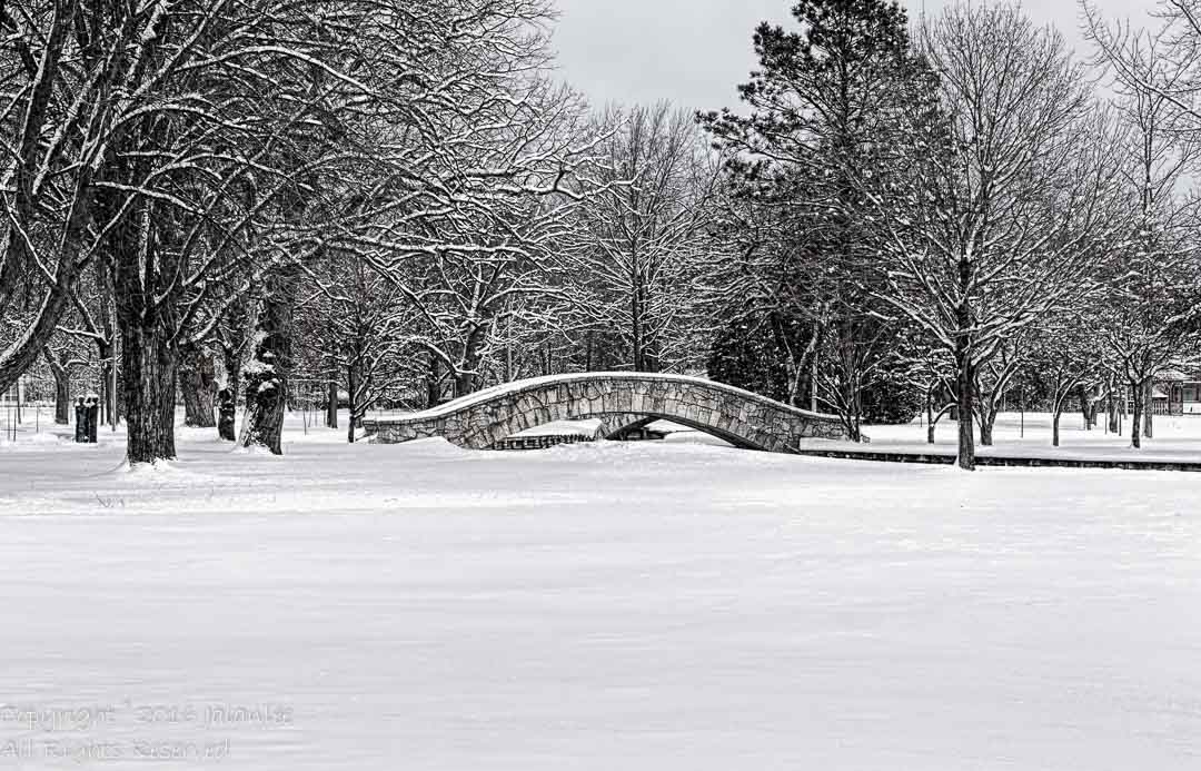 Two Bridges in Winter