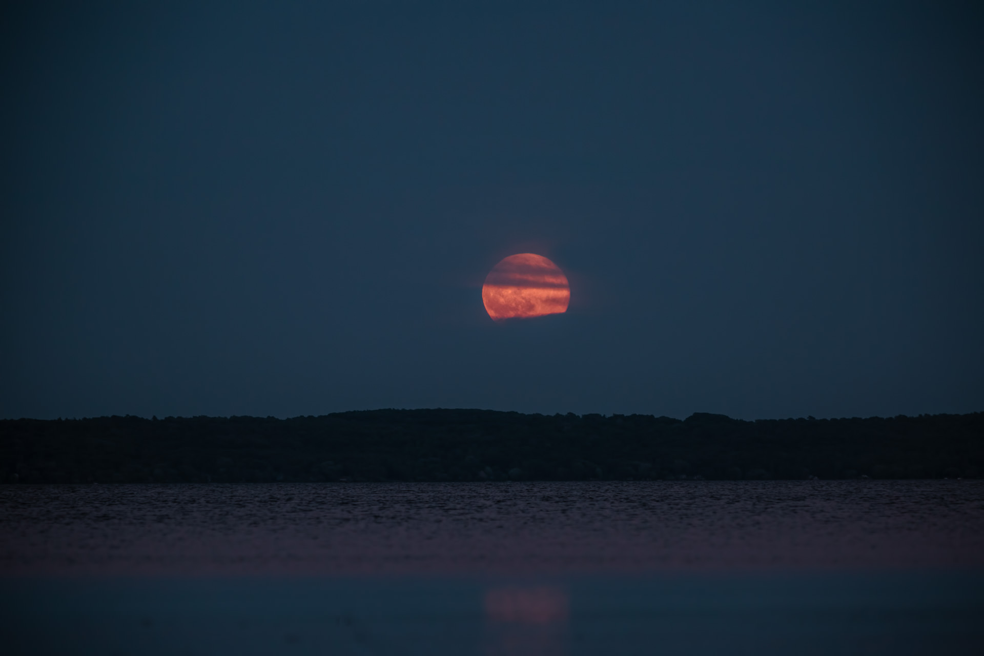 Strawberry Moon Rising on The Summer Solstice