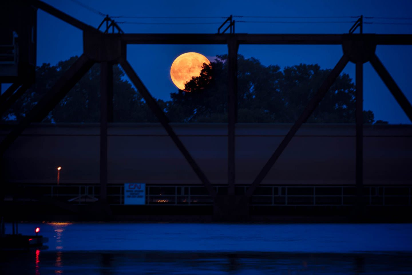 Freight Train Moonrise