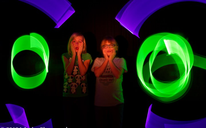 Light Painting with Kerrington, Rachael, Noah and Mason